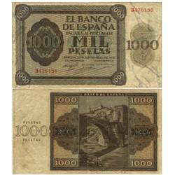 España 1000 Ptas. 1936. MBC-/MBC. (Doblez.Planchado.Entero). (Serie B-Pte.Alcantara). EDF. D23 a - PIK. 103a
