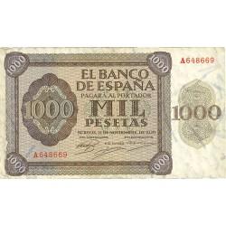 España 1000 Ptas. 1936. MBC-. (Doblez). (Serie A-Pte.Alcantara). EDF. D24 - PIK. 103a
