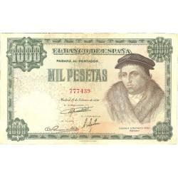 España 1000 Ptas. 1946. MBC. (Doblez y lev.planchado.Margen inf.lev.recortado). (Vives). EDF. D53 - PIK. 133a