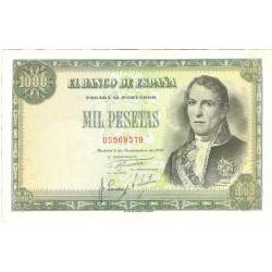 España 1000 Ptas. 1949. EBC. (Muy nuevo con doblez.Su apresto). (Santillan). EDF. D59 - PIK. 138a