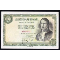 España 1000 Ptas. 1949. EBC/EBC+. (Muy nuevo con lev.doblez.Planchado.Precioso). (Santillan). EDF. D59 - PIK. 138a