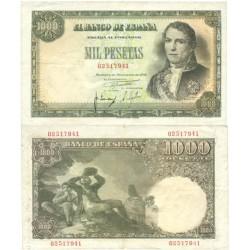 España 1000 Ptas. 1949. EBC. (Muy nuevo con doblez.Su apresto.Sin manipular). (Santillan). EDF. D59 - PIK. 138a