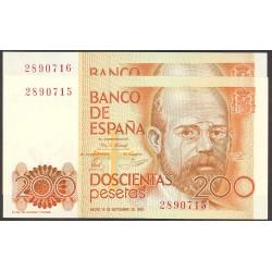 España 200 Ptas. 1980. SC. (Sin Serie-PAREJA correlativa-(Clarin). EDF. E6 - PIK. 156