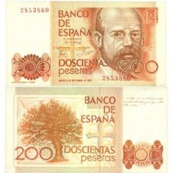 España 200 Ptas. 1980. SC. (Sin Serie-Clarin). EDF. E6 - PIK. 156
