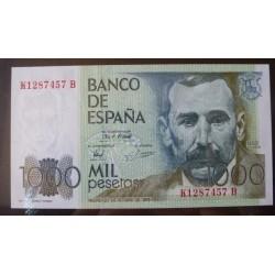España 1000 Ptas. 1979. SC. (Serie K-B-(Galdos). EDF. E3 a - PIK. 158. (Nº K 1287457 B)