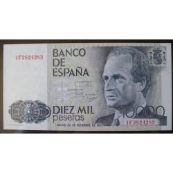 España 10000 Ptas. 1985. SC. (Serie 1F-(J.Carlos). PIK. 161 a - EDF. E11a. (Numeracion segun estoc)