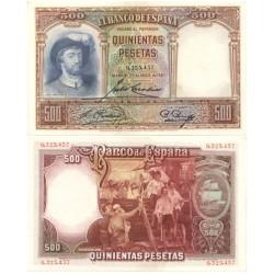 España 500 Ptas. 1931. SC/UNC. (De paquete). (Elcano). PIK. 84 - EDF. C12. (Numeracion segun estoc)