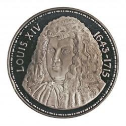 Francia Medalla. (Siglo XIX.). AG. 25gr. Anv: (Busto de LouisXIV. Ley.: Louis XIV 1643-1715). Rev: (Su escudo coronado). 0Luis
