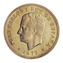 España Medalla. 1977. AG. 17,5gr. Anv: Su busto a izqda. . Rev: Su escudo/Centenario de su emision/100 Pesetas. (Cº de la emisi