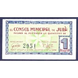 España 1 Ptas. 1937. JUIA-(Gi). SC. (Pqña.roturita). (Consejo). RARO/A. TU. 1471 - LGC. 803 C