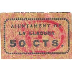 España 50 Cts. 1937. LLACUNA.-LA-(B). SC. (Ayuntamiento). RARO/A. TU. 1500 - LGC. 839 C