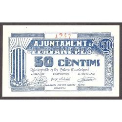 España 50 Cts. 1937. LLAVANERES-(B). SC. (Ayuntamiento). ESCASO/A. TU. 1527 - LGC. 846 A