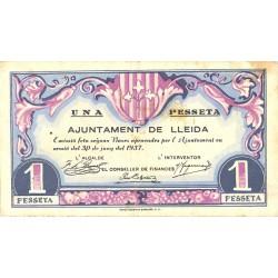 España 1 Ptas. 1937. LLEIDA-(L). MBC-/MBC. (Ayuntamiento). TU. 1536 - LGC. 849 C