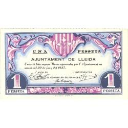 España 1 Ptas. 1937. LLEIDA-(L). EBC+. (Muy nuevo con doblez). (Ayuntamiento). TU. 1536 - LGC. 849 C
