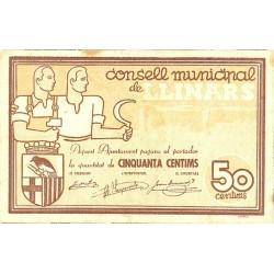 España 50 Cts. 1937. LLINARS-(del Valles)-(B). EBC-/EBC. (Consejo-Serie A). TU. 1547 - LGC. 852 A
