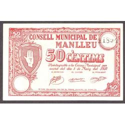 España 50 Cts. 1937. MANLLEU-(B). EBC+. (Muy nuevo con lev.marquitas). (Consejo). TU. 1619 b - LGC. 877 B