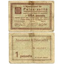 España 1 Ptas. 1937. PALAUSOLITA-(B). MBC-. (Marca de cel-lo). (Ayuntamiento). ESCASO/A. TU. 2030 a - LGC. 1062 C
