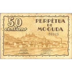 España 50 Cts. 1937. PERPETUA DE LA MOGUDA.-Sta.-(B). MBC+/MBC. (Ayuntamiento). TU. 2100 - LGC. 1106 A