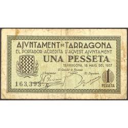 España 1 Ptas. 1937. TARRAGONA (T). MBC-. (Serie A-Ayuntamiento). TU. 2827 - LGC. 1403 C