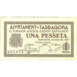 España 1 Ptas. 1937. TARRAGONA (T). EBC-. (Ayuntamiento-Serie A). TU. 2827 - LGC. 1403 C