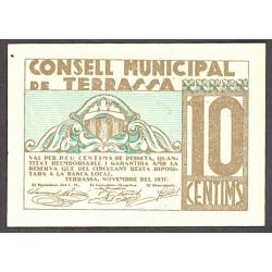 España 10 Cts. 1937. TERRASSA-(B). SC. (Consejo). TU. 2850 a - LGC. 1410 C