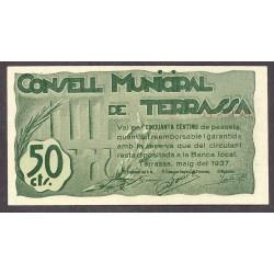 España 50 Cts. 1937. TERRASSA-(B). SC. (Consejo). TU. 2848 - LGC. 1410 A