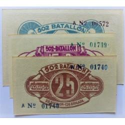 España Serie. 1937. Madrid ?. SC. (Billete impreso para uso de la tropa del ejercito del Este, comandado por Durruti). (Numeraci