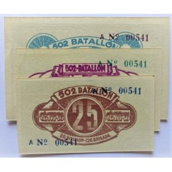 España Serie. 1937. Madrid ?. SC. (Billete impreso para uso de la tropa del ejercito del Este, comandado por Durruti). (Serie A