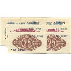 España Serie. 1937. Madrid ?. SC. (Billete impreso para uso de la tropa del ejercito del Este comandado por Durruti. (Serie A-S