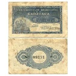 España 25 Cts. 1937. CARAVACA-(MU). MBC. (Consejo-Serie J). ESCASO/A. LGC. 447 F