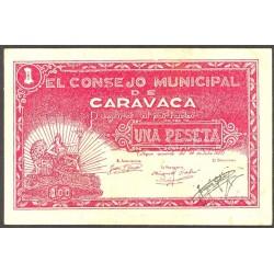 España 1 Ptas. 1937. CARAVACA-(MU). SC. (Consejo-Serie A). ESCASO/A. y mas asi. LGC. 447 H
