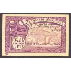 España 50 Cts. 1937. MURCIA-(MU). EBC+/SC-. (Serie C-Consejo). LGC. 983 E