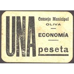 España 1 Ptas. 1937. OLIVA-(V). MBC+. (Consejo). MUY RARO/A. LGC. 1021 C - TUR. 1030