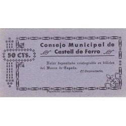España 50 Cts. 1937. CASTELL DE FERRO-(GR). SC. (Consejo). MUY RARO/A. LGC. 474 A.