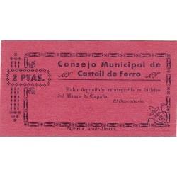 España 2 Ptas. 1937. CASTELL DE FERRO-(GR). SC. (Consejo). MUY RARO/A. LGC. 474 B.