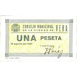 España 1 Ptas. 1937. VERA-(AL). SC. (Consejo). LGC. 1545 B