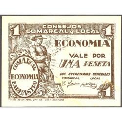España 1 Ptas. 1937. BARBASTRO-(Hu). SC-/EBC+. (Consejo). LGC. 232 D
