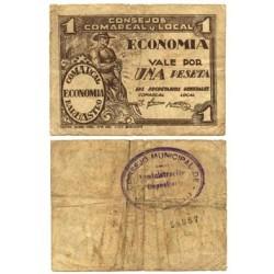 España 1 Ptas. 1937. BARBASTRO-(Hu). BC+/MBC-. (Roturita). (Consejo). LGC. 232 D