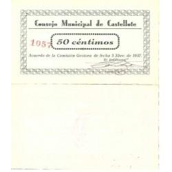 España 50 Cts. 1937. CASTELLOTE-(Te). SC. (Consejo). LGC. 496 B