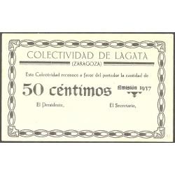 España 50 Cts. 1937. LAGATA-(Z). SC. (Colectividad). RARO/A. y mas en esta conservación. LGC. 808 A