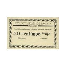 España 50 Cts. 1937. LAGATA-(Z). EBC+. (Nuevo con rotura margen). (Colectividad). RARO/A. LGC. 808 A