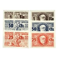 España Serie. 1937. NAVALMORALES-LOS-(TO). SC. (Serie COMPLETA-(25, 50 Cts.+ 1 Ptas.). (Consejo). MUY ESCASO/A. y mas en esta co