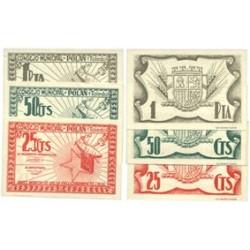 España Serie. 1937. POLAN-(TO). SC. (Serie COMPLETA-(25+50 Cts, + 1 Ptas.). (Consejo). MUY ESCASO/A. y mas así. LGC. 1147 A,B y