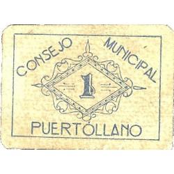 España 1 Ptas. 1937. PUERTOLLANO-(CR). MBC+/EBC-. (Consejo-Serie B). MUY RARO/A. LGC. 1196 C