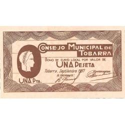 España 1 Ptas. 1937. TOBARRA (AB). SC. (Consejo). MUY ESCASO/A. en esta conservación. LGC. 1425 D