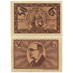 España 50 Cts. 1937. VILLAFRANCA DE LOS CABALLEROS-(TO). SC. (FALSO.Sin numero). (Consejo)