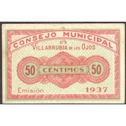 España 50 Cts. 1937. VILLARRUBIA DE LOS OJOS-(CR). SC-/SC. (Muevo.Lev.roce). (Consejo). RARO/A. y mas asi. LGC. 1629 A