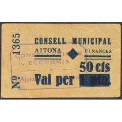 España 50 Cts. 1937. AITONA-(L). EBC+. (Consejo). RARISIMO/A. u mas asi. TU. 62 - LGC. 32 C