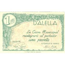 España 1 Ptas. 1937. ALELLA-(B). SC. (Ayuntamiento). TU. 116 - LGC. 102 C