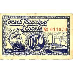 España 50 Cts. 1937. ESCALA, L'-(Gi). MBC+. (Consejo). TU. 1069 b - LGC. 605 A